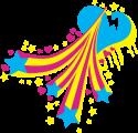 Rainbow Star Heart