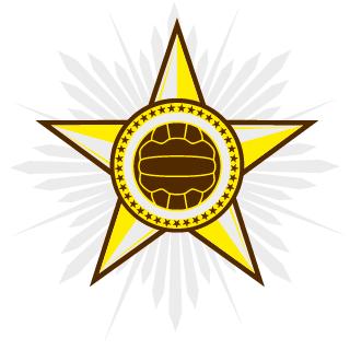 Stern mit Volleyball / Fussball