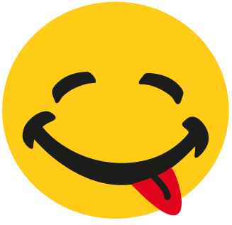Smily mit Zunge