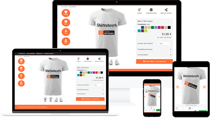 Mobile Shirtdesigner App